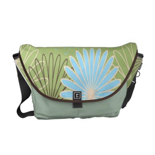 Pastel Flowers Messenger Bag