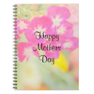 Pastel Flowers Mothers Day Gift Notebook