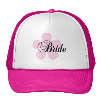 Pastel Flowers Pink Bride Tshirts and Gifts Trucker Hats