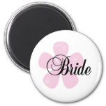 Pastel Flowers Pink Bride Tshirts and Gifts Refrigerator Magnet