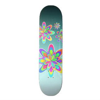 Pastel Fractal Girly Flowers Skateboard Deck