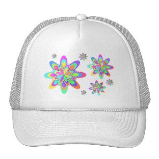 Pastel Fractal Girly Flowers Trucker Hat