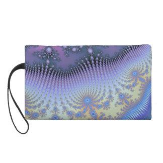 Pastel Fractal Satin Swirl Evening Wrist Bag