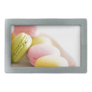 Pastel French Macaron Cookies Belt Buckle