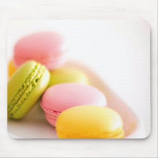 Pastel French Macaron Cookies Mouse Pad