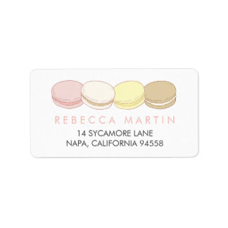 Pastel French Macarons Return Label