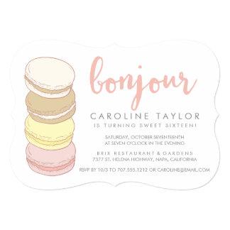 Pastel French Macarons Sweet Sixteen Card