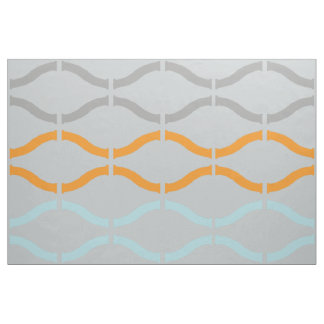 Pastel Funky Retro Geometric Pattern Fabric