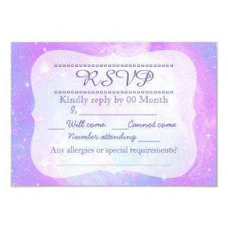 Pastel galaxy RSVP Card