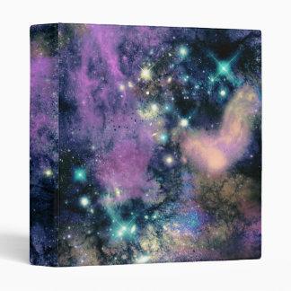 Pastel Galaxy Stars Binder