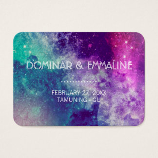Pastel Galaxy Wedding Place Cards