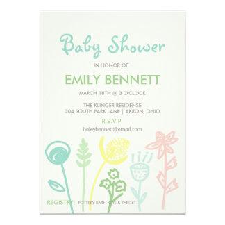 Pastel Garden Baby Shower Invitation