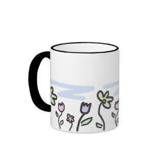 Pastel Garden Ringer Mug