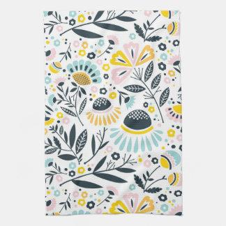 Pastel Geometric Floral Kitchen Towel