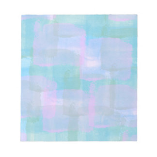 Pastel Geometric Lines Abstract Art Notepad