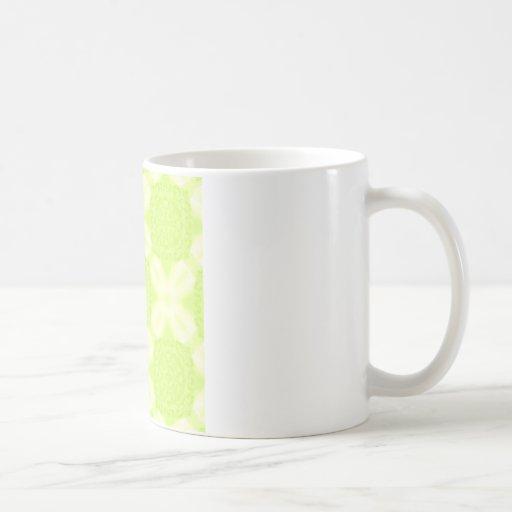 Pastel Geometric Pattern Mug - River Stone (Green)