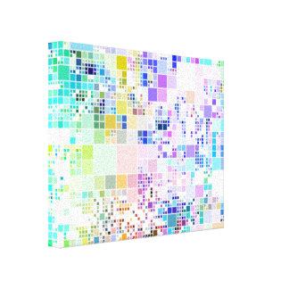 Pastel Geometric Squares Canvas Print