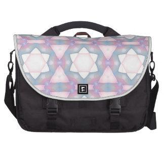 Pastel Geometric Star of David Fractal Laptop Messenger Bag