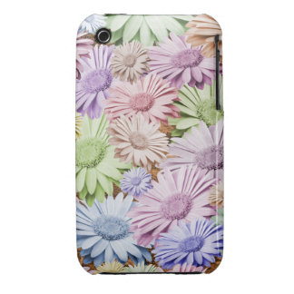 Pastel Gerbera Chintz Floral iPhone 3 Cases