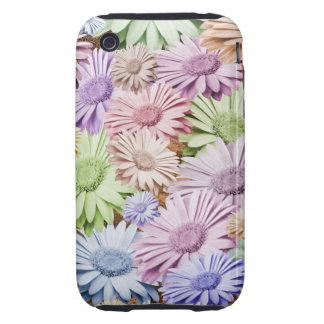 Pastel Gerbera Chintz Floral iPhone 3 Tough Covers