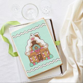 Pastel Gingerbread House Cookie Jumbo Cookie