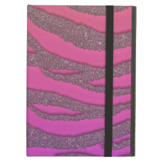 Pastel Glitter Zebra in Warm Pink Cover For iPad Air
