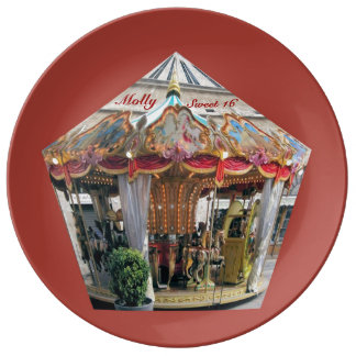 Pastel & Gold Carousel Pattern Design From Rome Plate