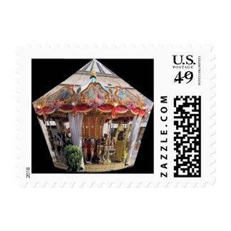 Pastel & Gold Floral Italian Carousel Pentagon Stamp