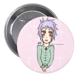 Pastel Goth Anime Girl Pinback Button