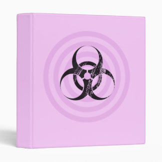 Pastel Goth Bio Hazard Graphic Art Binder