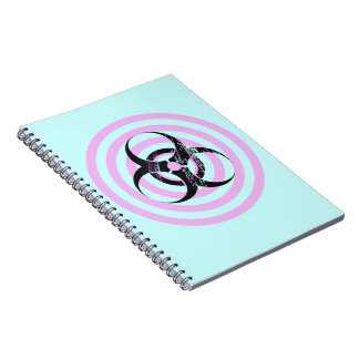 Pastel Goth Bio Hazard Graphic Art Notebook