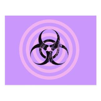 Pastel Goth Bio Hazard Graphic Art Postcard
