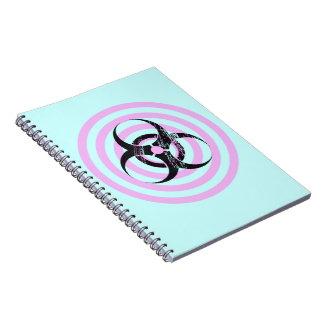 Pastel Goth Bio Hazard Graphic Art Spiral Notebook