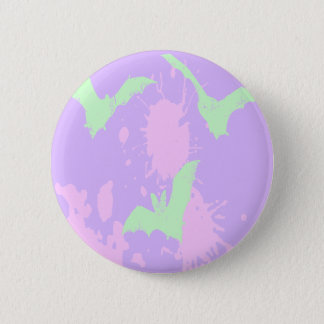 Pastel Goth Blood Vampire Bats Button