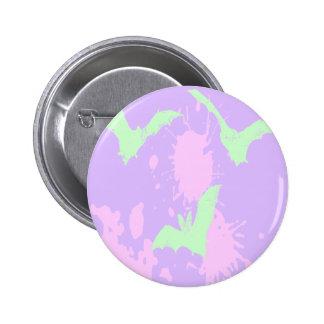 Pastel Goth Blood Vampire Bats Button