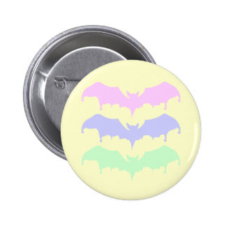 Pastel Goth Drippy Vampire Bats Pinback Button