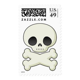 Pastel Goth Kitsch Skull & Crossbones Stamp