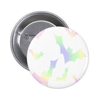 Pastel Goth Rainbow Vampire Bats Pinback Buttons