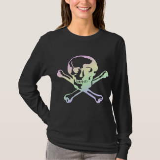 Pastel Goth Soft Rainbow Skull & Crossbones T-Shirt