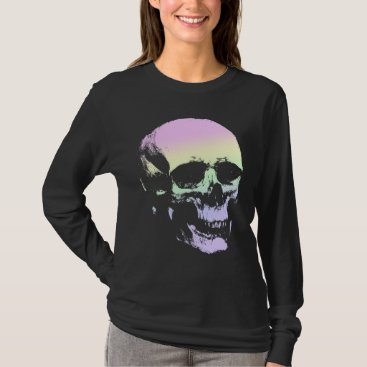 pastelgoth Pastel Goth Soft Rainbow Spooky Skull T-Shirt