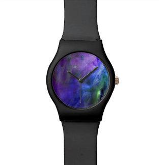Pastel Goth Space Nebula Wristwatch