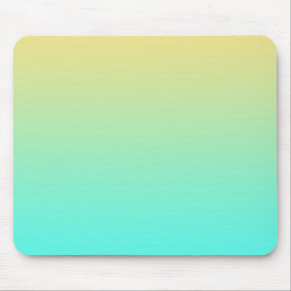 Pastel Gradient Background Turquoise Yellow Mouse Pad