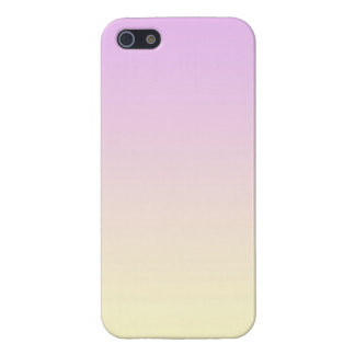 Pastel Gradient Purple to Yellow Gradation Colour Cover For iPhone SE/5/5s
