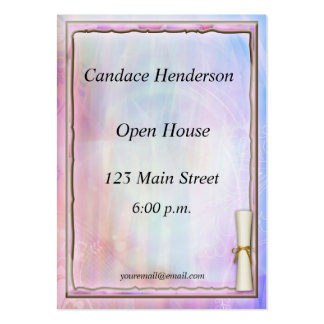 Pastel Graduation Hand-out Large Business Cards (Pack Of 100)