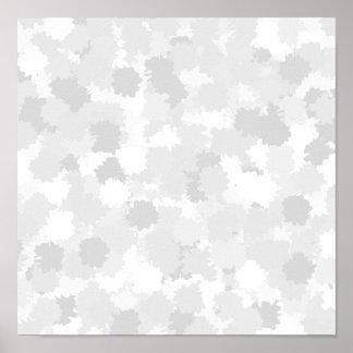 Pastel Gray Abstract Pattern. Print