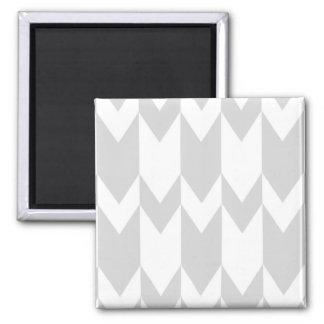 Pastel Gray and White Chevron Pattern. Magnet