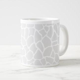 Pastel Gray Animal Print Giraffe Pattern 20 Oz Large Ceramic Coffee Mug