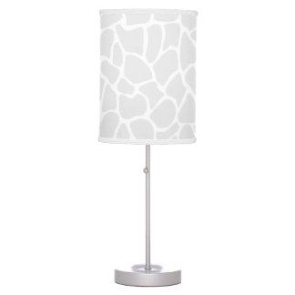 Pastel Gray Animal Print Giraffe Pattern Table Lamp