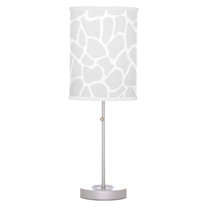 Pastel Gray Animal Print Giraffe, Giraffe Print Floor Lamp