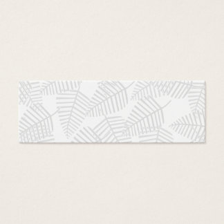 Pastel Gray Leaves. Mini Business Card